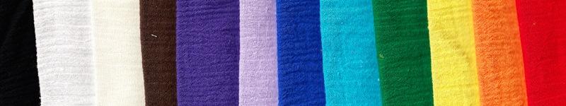 Gauze fabric colors