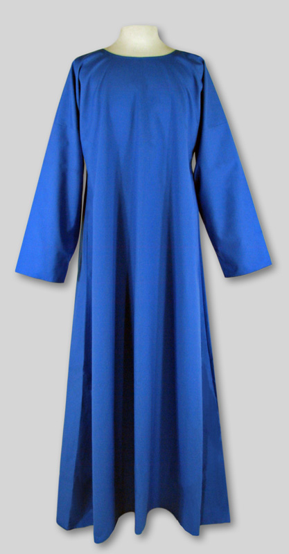 Robe  Simple  Blue  Round neck  Many sizes in stock