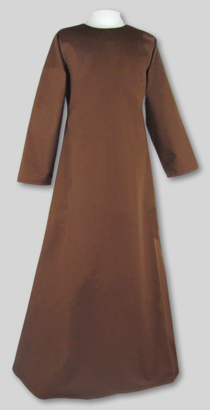 Robe  Simple  Brown  Round neck  Many sizes in stock