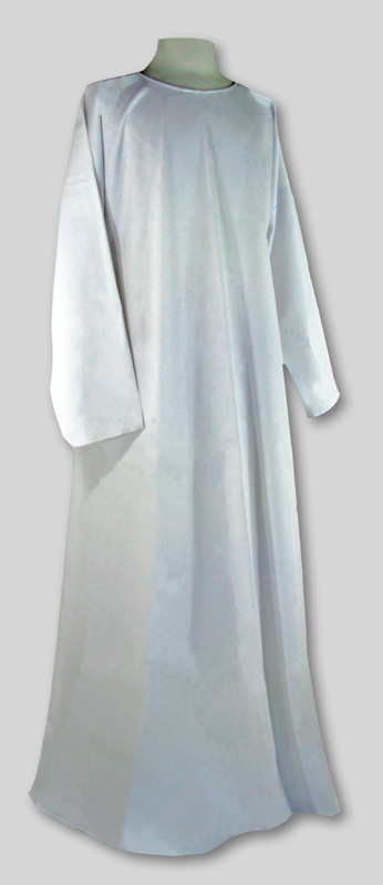 Robe  Simple  White  Round neck  Many sizes in stock