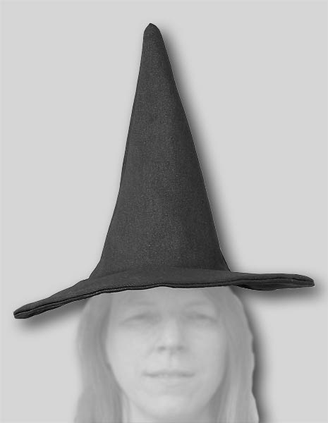Folk Witch Hat  Black  Imperfect