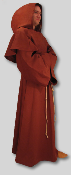 Robe  Monk  Brown  Attached Cowl  Many Sizes Instock